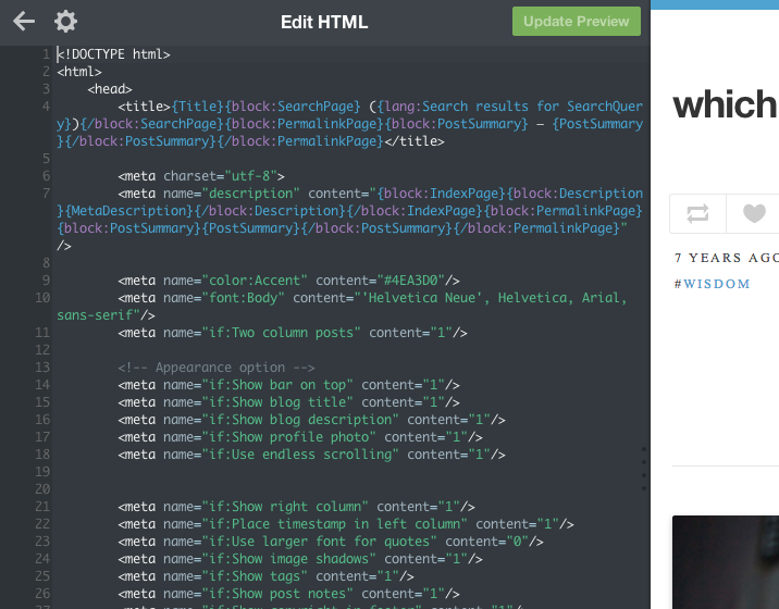 How to write html codes for tumblr